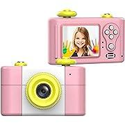 CamKing Caméra Numérique pour Enfants, Caméra Vidéo pour Enfants HD1080P Écran de 1,5 Pouces Caméras Photo/Vidéo pour Enfants pour Caméscope Numérique pour Enfants (Rose)