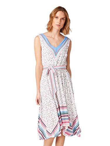 TOM TAILOR Damen 1010451 Kleid, Mehrfarbig (Offwhite Paisley min 17346), (Herstellergröße:42)
