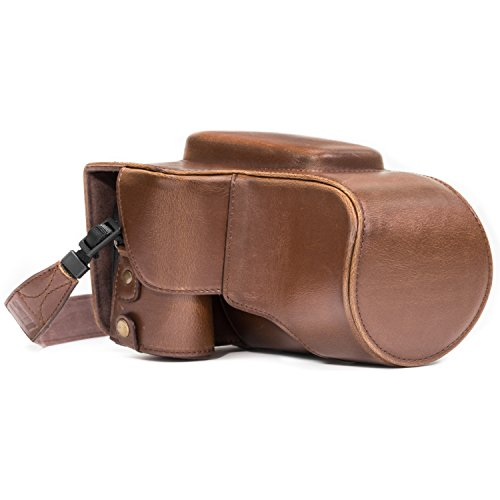 MegaGear 'Ever Ready' Protective Leather Case Bag for Nikon Coolpix P900/P900S Compact System Camera - Dark Brown