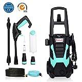 Stream High Pressure Washer, Electric Power Washer with Accessories, Car/Patio/Yard Washing Machine