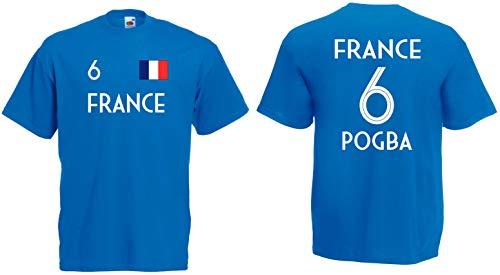 Frankreich Pogba T-Shirt Trikot WM-2018 Look !!!NEU!!!