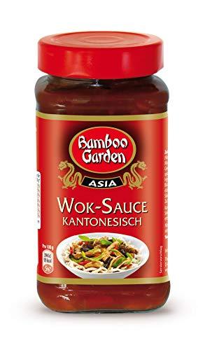 Bamboo Garden Wok Sauce kantonesisch, 4er Pack (4 x 215 ml)