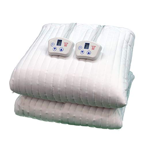 Electrowarmth M72Fxld California King-Long Two Controls Extra Long Heated Mattress Pad, 72-Inch by 84-Inch , White