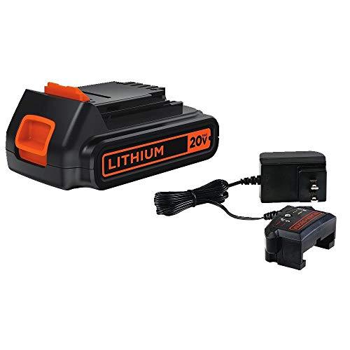 BLACK+DECKER LCS1620B 12V/20V Max Lithium Ion Battery Charger & LBXR20 20v Max Lithium Ion Battery Pack Set