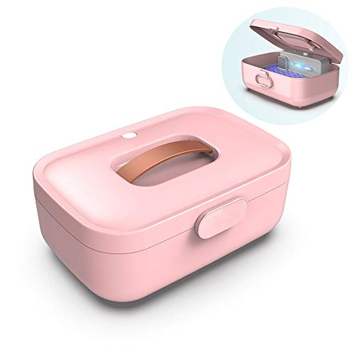 YZT QUEEN UV-sterilisator, dubbellaags ontwerp van clothes Box desinfectieautomaat met droogfunctie, ondergoed voor thuis, reizen, sieraden, horloges, mobiele telefoon desinfectiebox