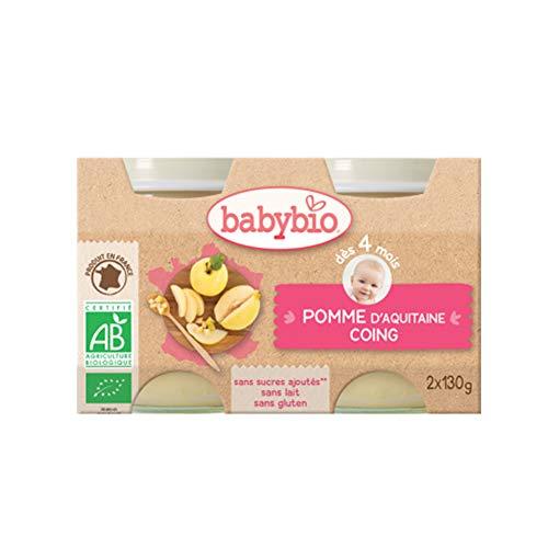 Babybio Petit Pot Pomme-coing bio 2x130g