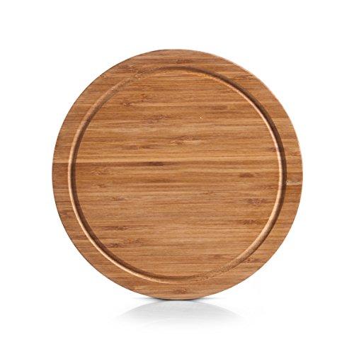 Zeller 25261 Tagliere-Vassoio da Merenda, Bambú, Beige, 0.1x25x1.5 cm