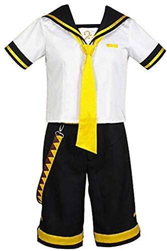 VINFA Vocaloid 2 Cosplay Kagamine Len Costume Outfit White Custom Made