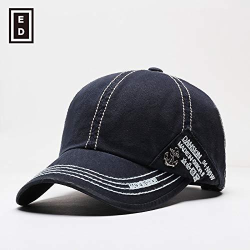Bonnet de Saison Hommes Casquette de Baseball Sport féminin Bleu foncé réglable