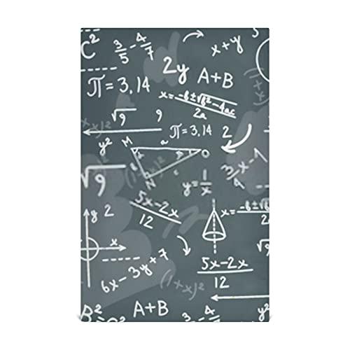 Juego de toallas para platos de cocina, 4 pizarras de matemáticas, para resolver física, toallas de cocina grandes de 28 x 18 pulgadas, toallas de cocina, paños de cocina, toallas decorativas para g