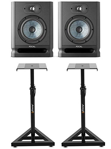 Focal Alpha 65 EVO Monitores de Estudio con Soportes Audibax Neo SM1