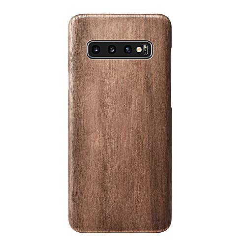 qichenlu [Kugelsicher Aramidkern Walnussholz Echtholz Backcover für S10,Hülle für S10,FSC zert. Holz Handyschale Ultra Slim Wood Case für Samsung Galaxy S10