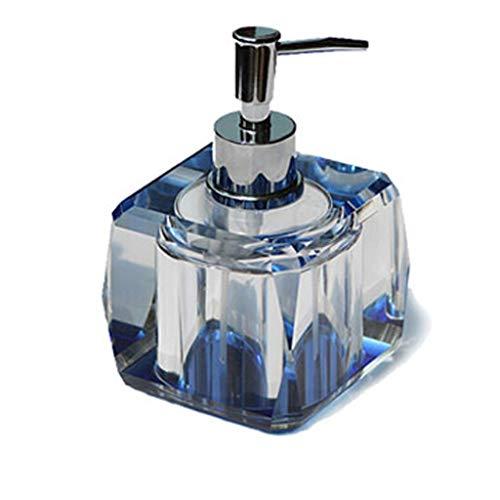 Seifenspender Europäische Kristallglas Seifenspender Handbuch Schönheitssalon Bad Soap Pump Duschgel Shampoo Lotionspender Lotion Spender (Color : A)