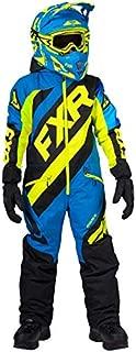 FXR Youth CX Monosuit Insulated Snowmobile Suit (Blk/Blue/HiVis, 14)