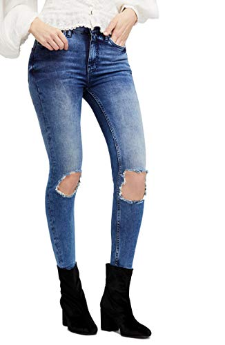 Free People High-Rise Busted Skinny in Turquoise Turquoise 25