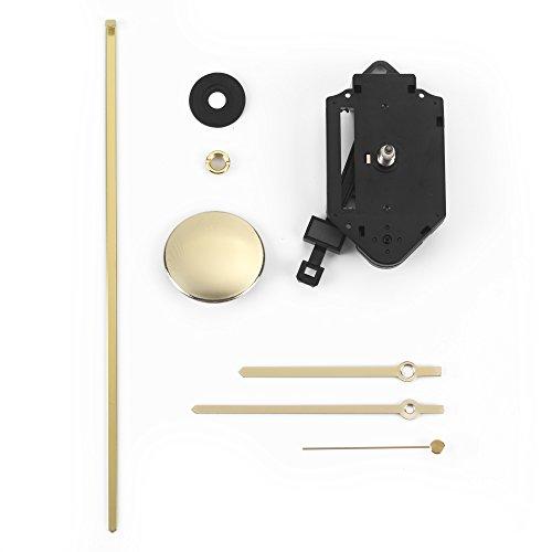 Clock-it Meccanismo Pendolo di qualità Perno 16mm, Lancette Metallo Dorate. Azienda Italiana specializzata.