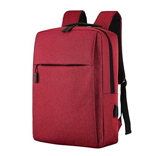 UKKO Mochila Laptop USB Mochila Bolso Escuela Rucksack Mocho Hombres Hombres Backbag Travel Daypacks Masculino Ocio Mochila Mochila-Wine Red