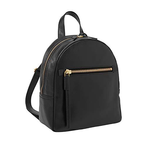Fossil Women's Megan Leather Backpack Handbag, Black