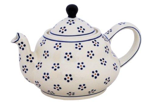Original Bunzlauer Keramik Teekanne 2.0 Liter mit integriertem Sieb im Dekor 1