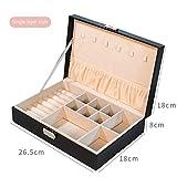 donfhfey827 Boîte de Rangement de Bijoux créatifs PU Collier en Cuir Boucles d'oreilles Boucles d'oreilles boîte à Bijoux multifonctionnelle