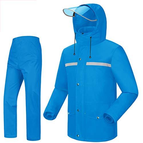 Rain Suit Waterproof Set Lightweight Raincoat Men's Motorcycle Rainwear Portable Rain Suit Waterproof Breathable Fishing Jackets Outdoor Sports Rowing Cycling Camping Lightweight Rain Jacket