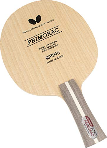 Butterfly Primorac Blade Table Tennis Blade - 5-ply All-Wood Blade - Professional Table Tennis Blade - Available only The FL Handle Type - Made in Japan