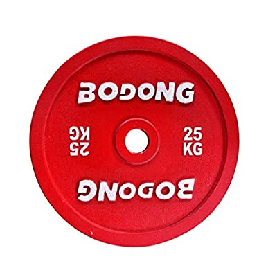 WJHWSX 1 PCS Bumper Weight Plate 15/20/25 kg Standard 2 Inch Weight Lifting Fitness Gym Bodybuilding Strength Training (25)