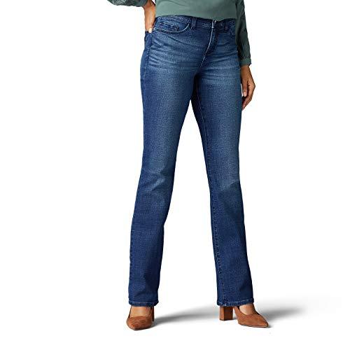 Lee Women's Flex Motion Regular Fit Bootcut Jean, Open Seas, 14