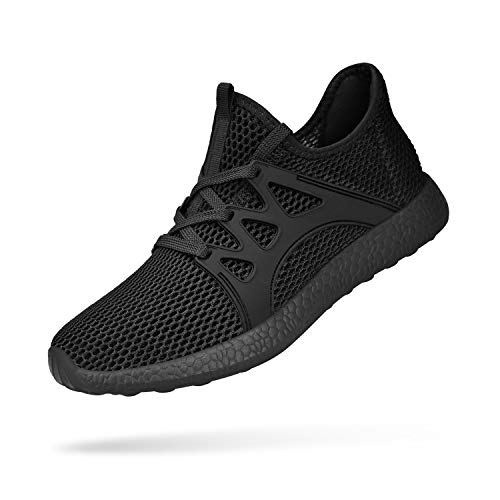 Feetmat Mens Shoes Non Slip Gym Shoes Ultra Light Mesh Breathable Walking Tennis Running Sneakers Tenis para Hombres Black 10.5