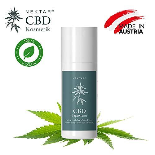 Nektar Naturkosmetik CBD Tagescreme Anti Aging Vorsorge für Mischhaut mit Schutz für den gesamten...
