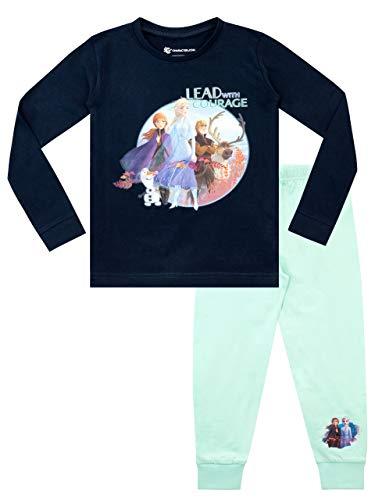 Disney Pigiama a Maniche Lunghe per Ragazze Il Regno di Ghiaccio Vestibilitta Stretta Frozen Multicolore 4-5 Anni