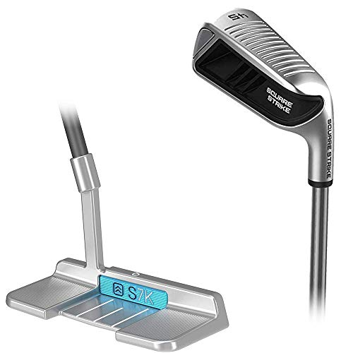 The Square Strike Pitching & Chipping Wedge and S7k Stand Up Putter Bundle
