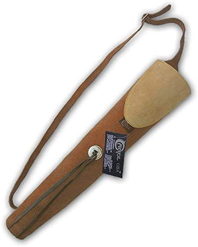 Carol Traditional Suede Leather Arrow Cheap sale AQ137BROWN Regular store Quiver Back