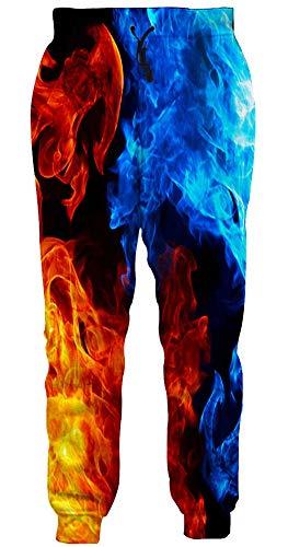 Loveternal Pantaloni Unisex 3D Stampati Hip Hop Fumo Colorato Joggers Casual Pantaloni Sportivi novità per Le Donne Uomini S