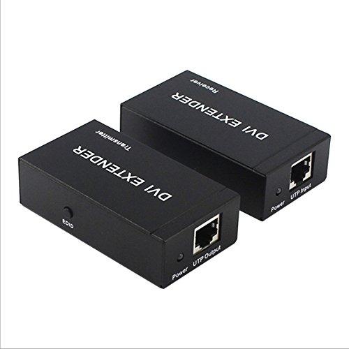 unbrand DVI 60 Meter Kabel Extender DVI Auf RJ45 HD Verlustfreie TV Video Sender 1080 P Verstärker Extender DVI Extender