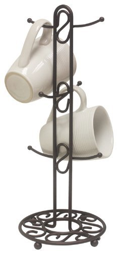 Home Basics Collection Mug Tree, Single, Bronze