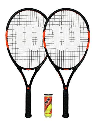 puissant Wilson set de deux raquettes de tennis Federer pour adultes avec trois balles de tennis.