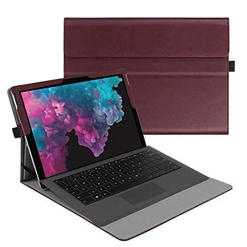 Fintie Hülle für Microsoft Surface Pro 7+/ Pro 7/ Pro 6/ Pro 5/ Pro 4/ Pro 3 12,3 Zoll Tablet - Multi-Sichtwinkel Hochwertige Tasche Schutzhülle aus Kunstleder, Type Cover kompatibel, Bordeaux