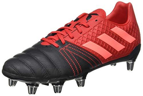 adidas Kakari Elite (SG), Zapatillas para Rugby para Hombre, Core Black/Signal Coral/Scarlet, 43 1/3 EU