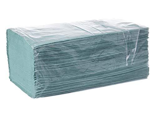 DeinPack Papierhandtuch, ZZ-Falz, 25 x 23 cm, 1lag, grün, 5000 Blatt, 1er Pack (1 x 1 Stück)
