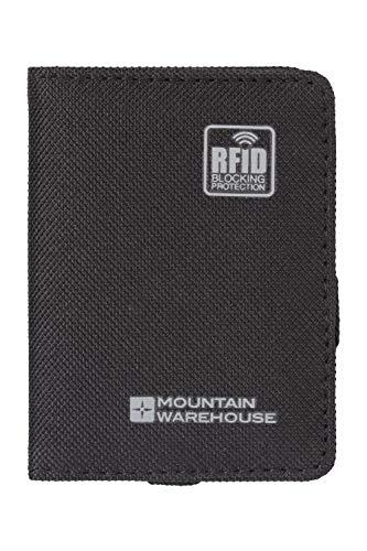 Mountain Warehouse Porte-Cartes de crédit RFID - Léger et sécurisé - Unisexe - Idéal pour Les Voyages, Le Camping et la randonnée Noir Taille Unique