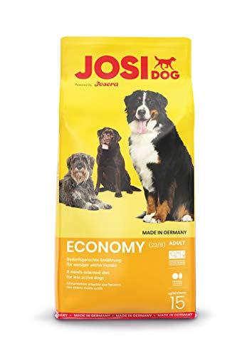 JosiDog Economy, Hundefutter für ausgewachsene Hunde, Trockenfutter, powered by JOSERA, 1er Pack (1 x 15 kg)