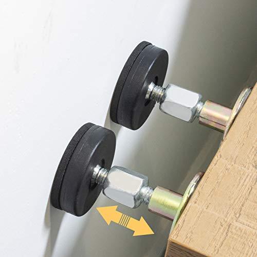 2 frenos para cabecera, herramienta antisacudidas, soporte telescópico para pared de habitación, fácil de instalar (2.9-8.4 cm)