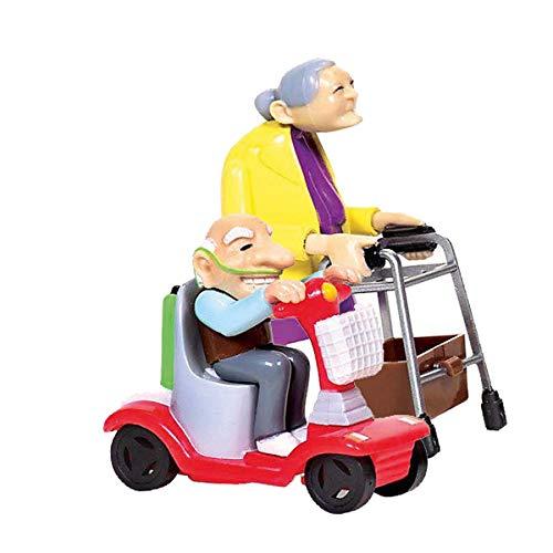 Preis am Stiel Aufziehbare Oma & Opa Set | Spielzeug | Mitbringsel | Geschenkidee | Geschenk für Kinder | Mechanikspielzeug | Ausgefallenes Geschenk