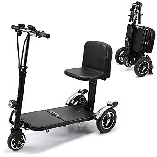 Acc Triciclo Eléctrico De 36 V / 10,4 AH Vehículo Portátil para Adultos, Velocidad Ajustable Y Asiento Grande Scooter Motorizado Viaje Coche Eléctrico Plegable Kilometraje 30 Km