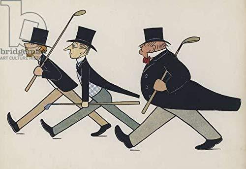 adrium Poster-Bild 120 x 80 cm: Wonderful England: Golfers Leaving Work (Colour Litho), Bild auf Poster