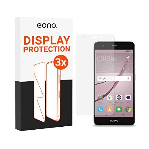 Amazon Brand – Eono Panzerglas kompatibel mit Nova 2 - HD Schutzglas gegen Bildschirmbruch, Kratzer - Hüllenfre&lich, 2.5D, 9H Stärke - 3 Stück