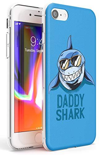 papà Cucciolo di squalo Shark Slim Cover per iPhone 6 TPU Protettivo Phone Leggero con Divertimento Tendenza Canzone Freddo Carina