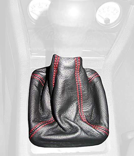 RedlineGoods Bota/Funda para Palanca de Cambios Compatible con Audi S2 1987-96 Cuero Negro Costura Azul