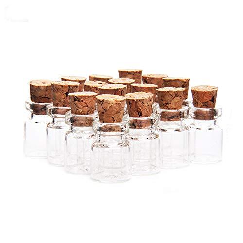 Danmu Art 13 mm x 18 mm 0.8 ml Mini helder glas flessen potten met kurk stoppers parfum glazen flessen voor bruiloft gunsten Baby douche DIY decoratie